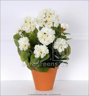 Bukiet sztuczny Geranium biały 40 cm