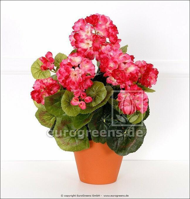 Bukiet sztuczny Geranium jasnoróżowy 40 cm