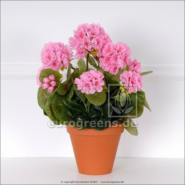 Bukiet sztuczny Geranium różowy 40 cm