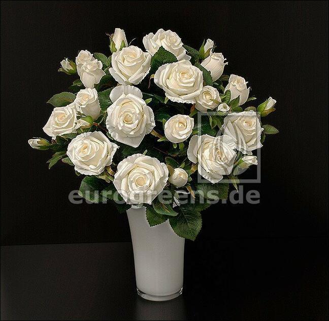 Bukiet sztuczny Krem różany 50 cm