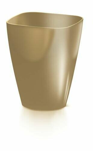Doniczka COUBI ORCHID kwadratowa kawa z mlekiem 13,2 cm