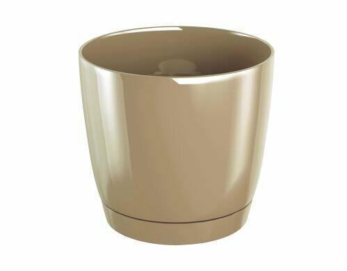 Doniczka COUBI ROUND P z miską na kawę z mlekiem 15,5 cm