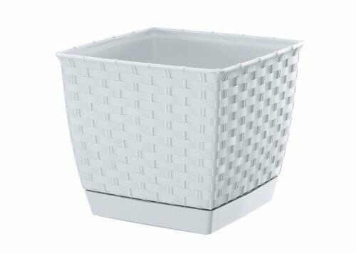 Doniczka kwadratowa RATOLLA SQUARE biała 14,5 cm