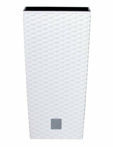 Doniczka RATO KWADRAT + depozyt biały 17cm