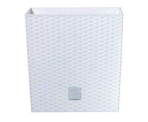 Doniczka RATO LOW + depozyt biały 26,2 cm
