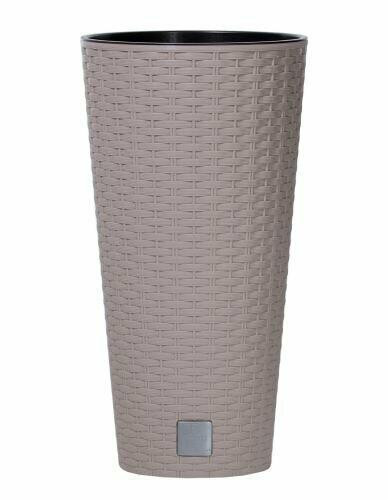 Doniczka RATO TUBUS + depozyt mocca 25cm
