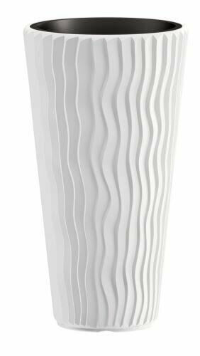 Doniczka SANDY SLIM + wkład biały 39 cm