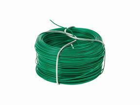 Drut wiązałkowy do sztucznego żywopłotu, zielony plastyfikowany 1,2 mm - zwój 25 m