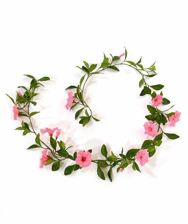 Girlanda sztuczna Petunia różowa 180 cm
