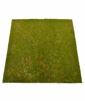 Mata ze sztucznego mchu 100 x 100 cm - zielona