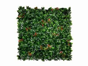 Panel sztuczny liść Photinia - 50x50 cm
