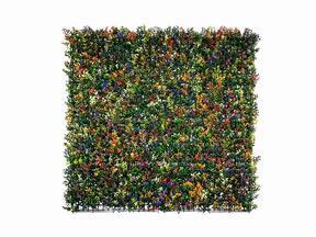 Panel z kwiatów sztucznych Buxus wielobarwny - 50x50 cm