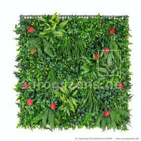 Panel ze sztucznych kwiatów - 100x100cm
