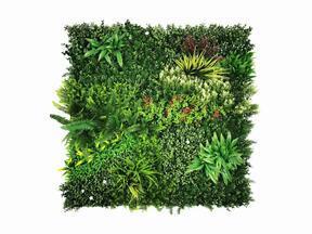 Panel ze sztucznych kwiatów Mix - 100x100 cm