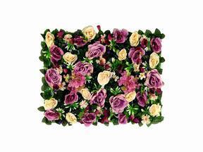 Panel ze sztucznych kwiatów Róża i Hortensja - 40x60 cm