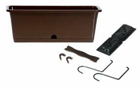 Pudełko CAMELIA W z haczykami ciemnobrązowy 50,8 cm