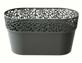 Pudełko koronkowe NATURO grafitowe 27,5 cm