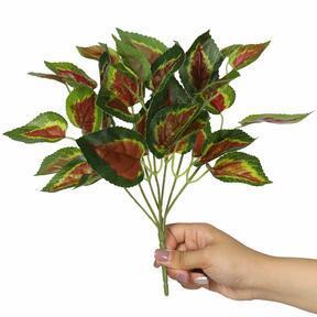Roślina sztuczna Bazylia czerwona 25 cm