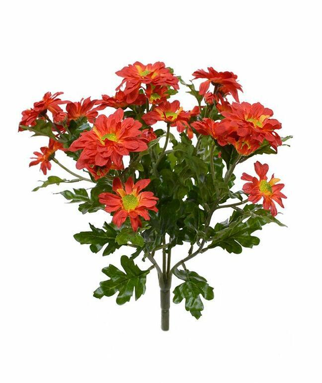 Roślina sztuczna Chryzantema pomarańcza 35 cm