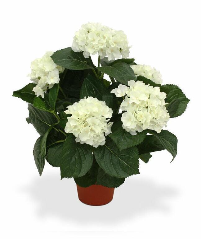 Roślina sztuczna Hortensja krem 45 cm