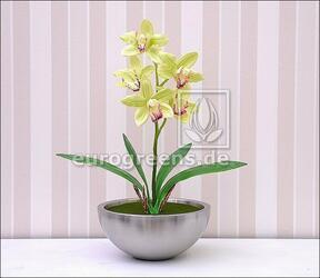 Roślina sztuczna Orchidea Cymbidium jasnozielona 50 cm