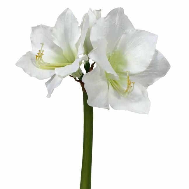 Sztuczna gałązka Amarylis biała 55 cm