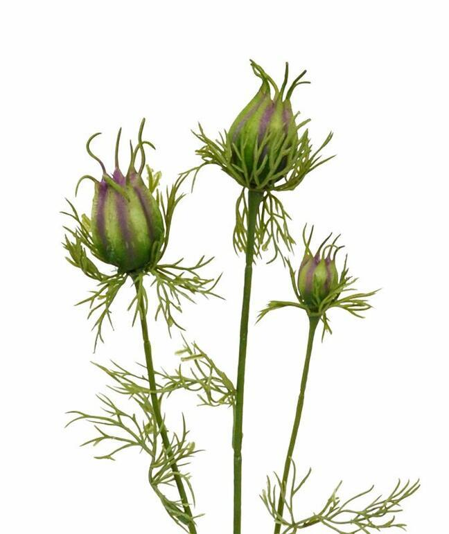 Sztuczna gałązka Czarno-zielona fioletowa 55 cm