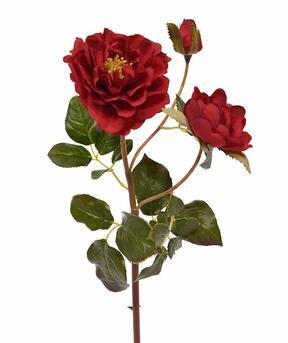 Sztuczna gałązka Czerwona róża 50 cm