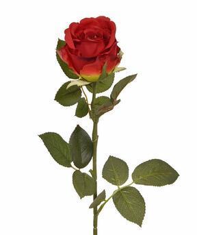 Sztuczna gałązka Czerwona róża 74 cm
