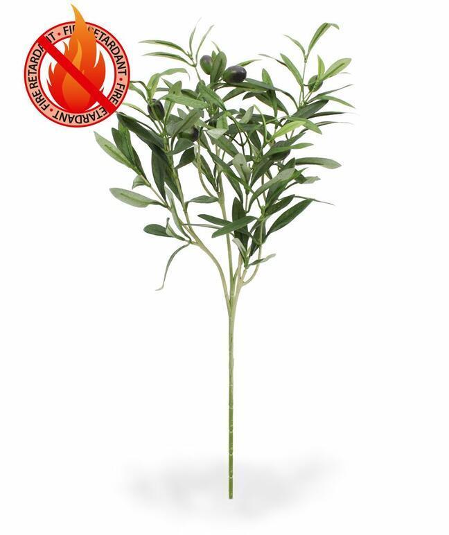 Sztuczna gałązka Drzewo oliwne z oliwkami 54 cm