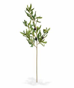 Sztuczna gałązka Drzewo oliwne z oliwkami 85 cm