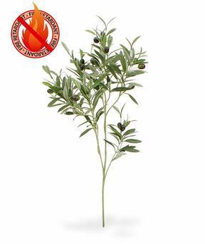Sztuczna gałązka Drzewo oliwne z oliwkami 90 cm