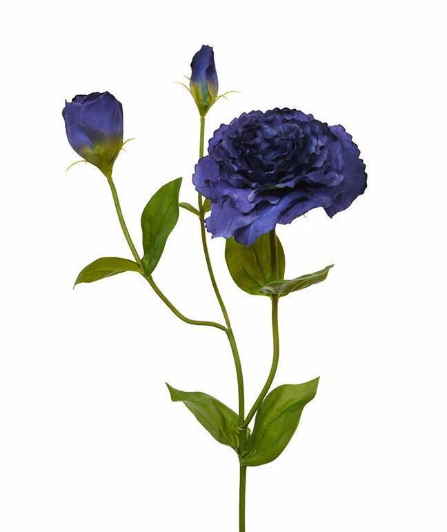 Sztuczna gałązka Eustoma niebieska 80 cm