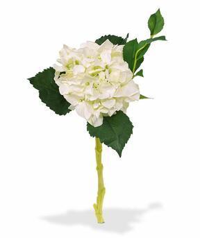 Sztuczna gałązka Hortensja biała 38 cm