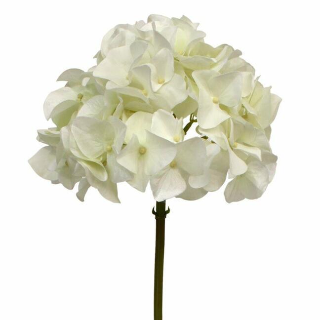 Sztuczna gałązka Hortensja biała 50 cm