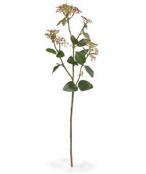 Sztuczna gałązka Kalina laurowy liściasty czerwony 81 cm
