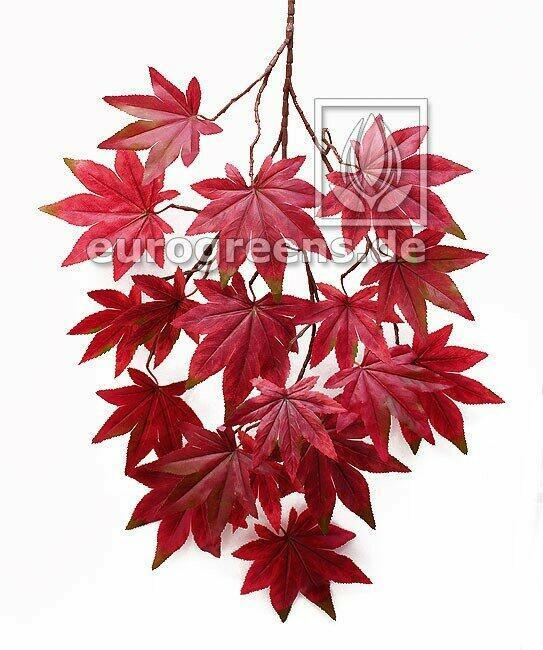 Sztuczna gałązka Klon czerwonawo-brązowy 80 cm