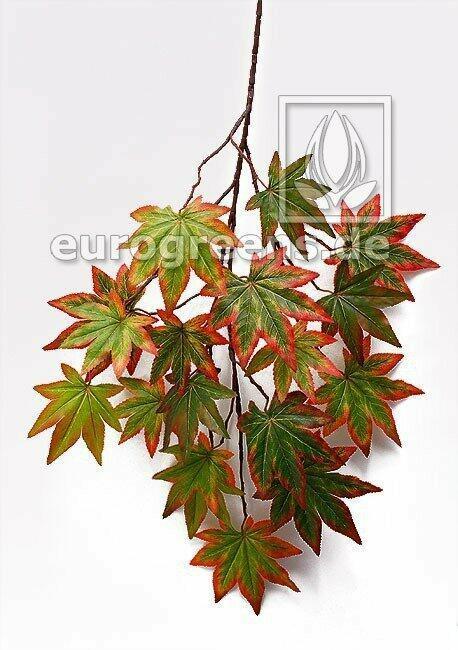 Sztuczna gałązka Klon jesienny zielony 80 cm