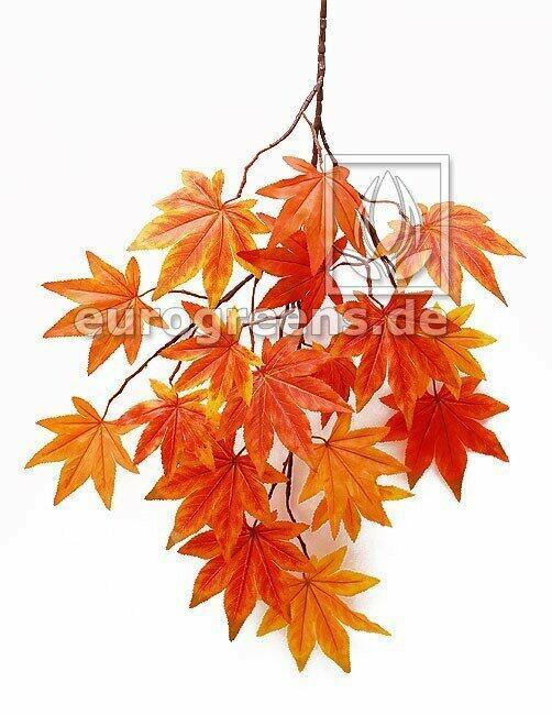 Sztuczna gałązka Klon pomarańczowo-czerwona 80 cm