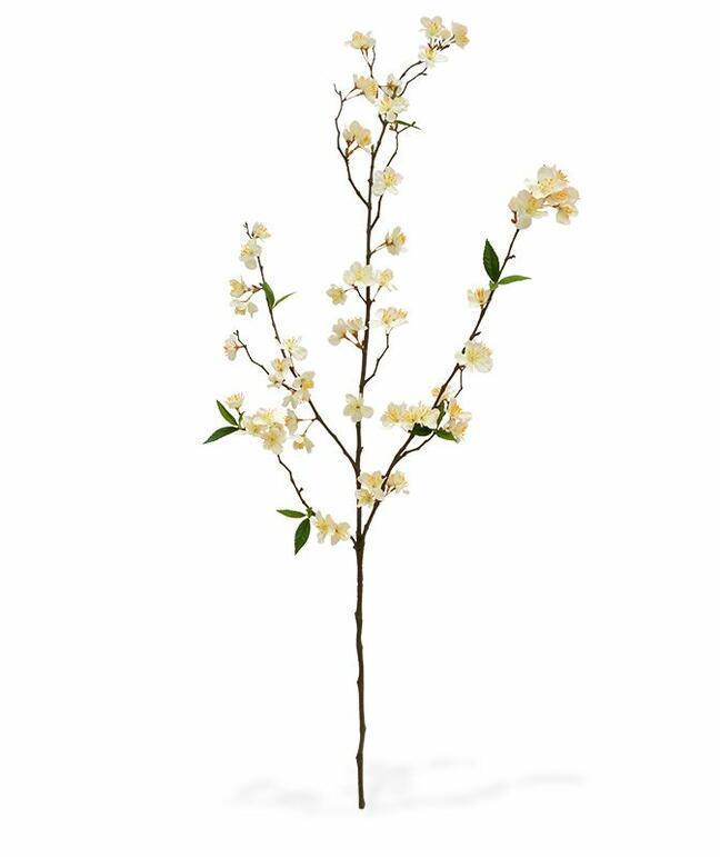 Sztuczna gałązka Kremowa wiśnia 120 cm