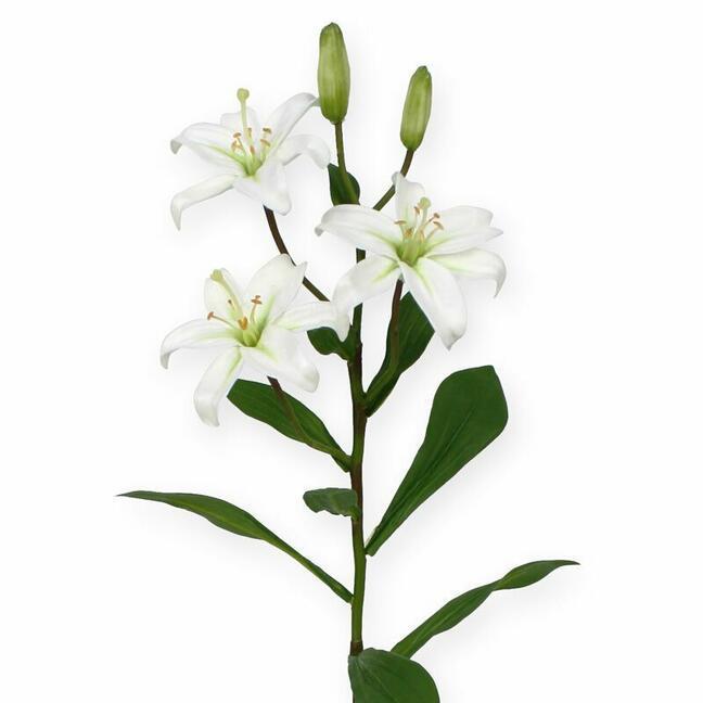 Sztuczna gałązka Lilia biała 50 cm