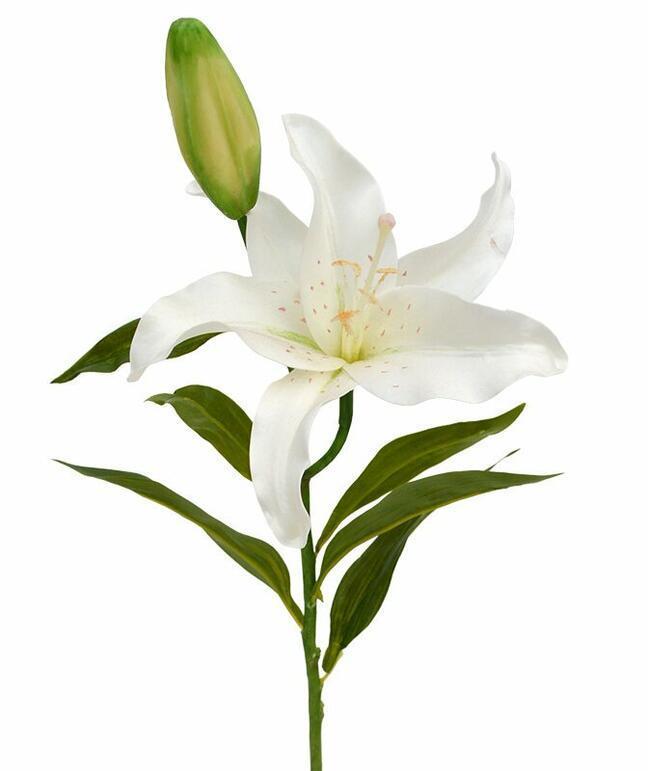 Sztuczna gałązka Lilia kremowa 55 cm