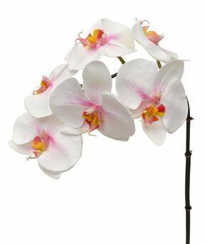 Sztuczna gałązka Orchidei różowo-biała 55 cm
