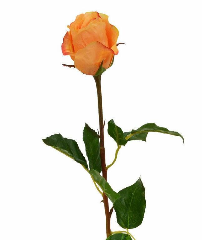 Sztuczna gałązka Różana pomarańcza 52 cm