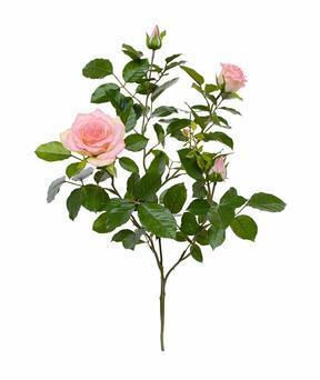 Sztuczna gałązka Różowa róża 70 cm