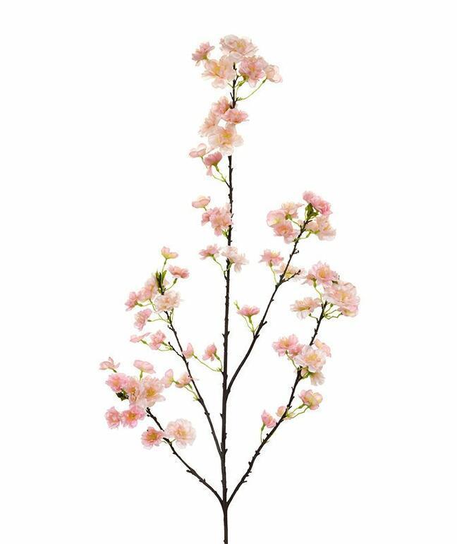 Sztuczna gałązka Różowa wiśnia 125 cm