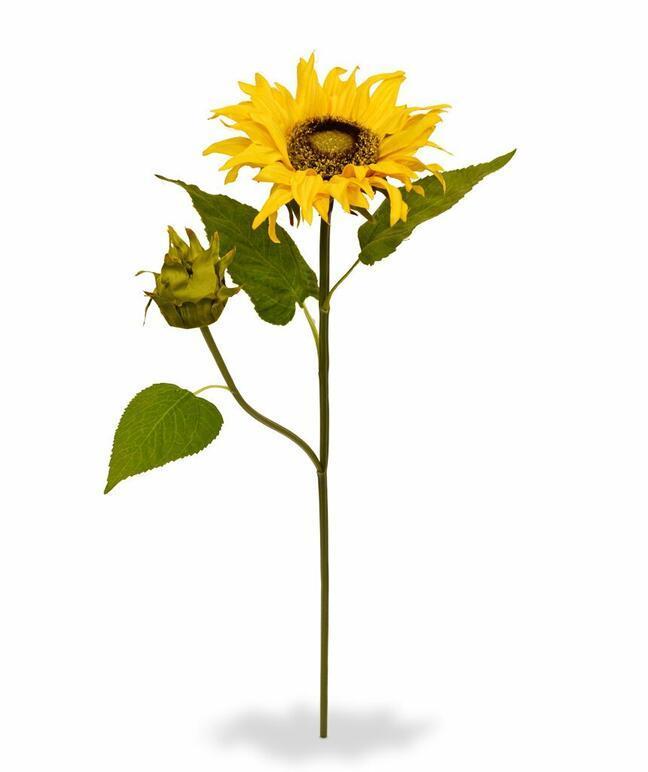 Sztuczna gałązka Słonecznik 55 cm