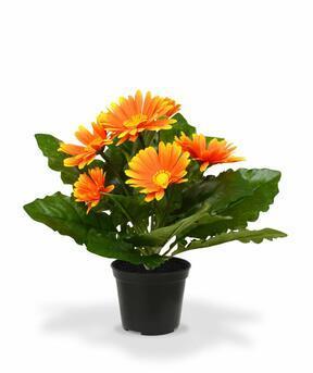 Sztuczna gerbera pomarańczowa 30 cm