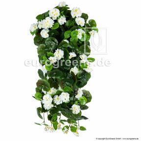 Sztuczna macka Geranium biała 70 cm