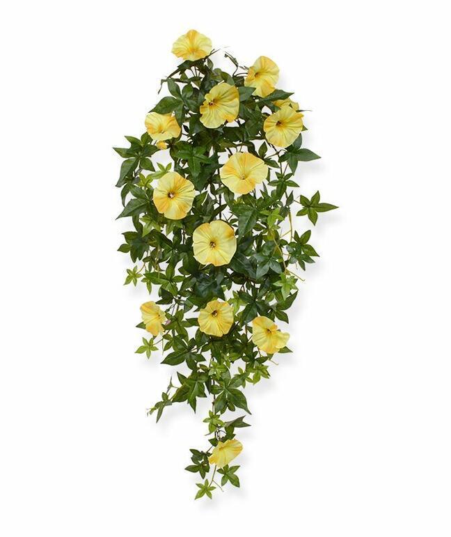 Sztuczna Petunia wąs żółta 70 cm